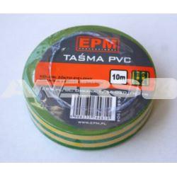 Taśma izolacyjna 15x10 żółto-zielona  EPM