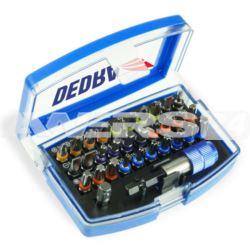 Zestaw końcówek wkrętakowych 32szt Dedra