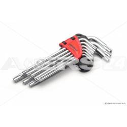Zestaw 9szt kluczy torx z otworem długie WT-09 TOD