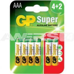 Bateria SUPER ALKALINE AAA LR3 1.5V (op.6szt) 1szt